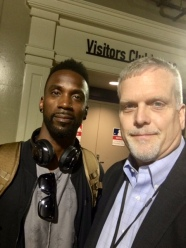 Del Duduit with Andrew McCutchen of the Pittsburgh Pirates
