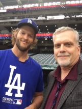Del Duduit with Clayton Kershaw of the LA Dodgers